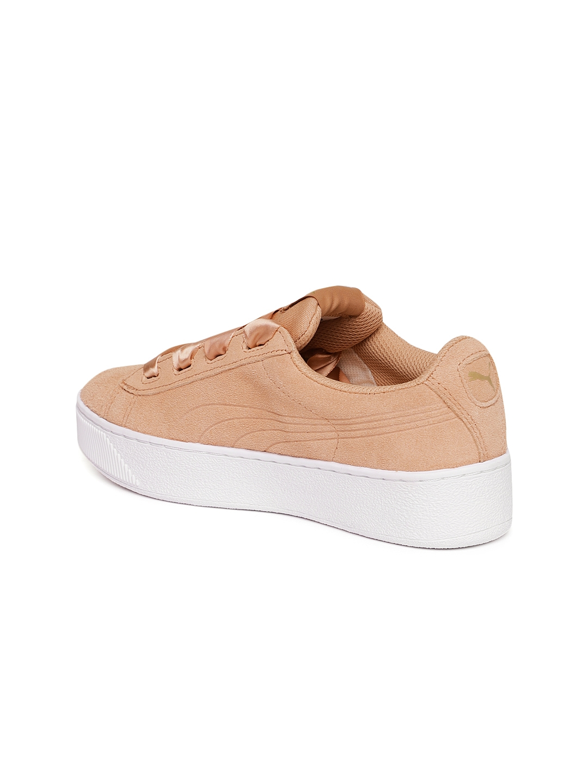 4a94e49280f Buy Puma Girls Coral Vikky Platform Ribbon Jr Suede Sneakers ...