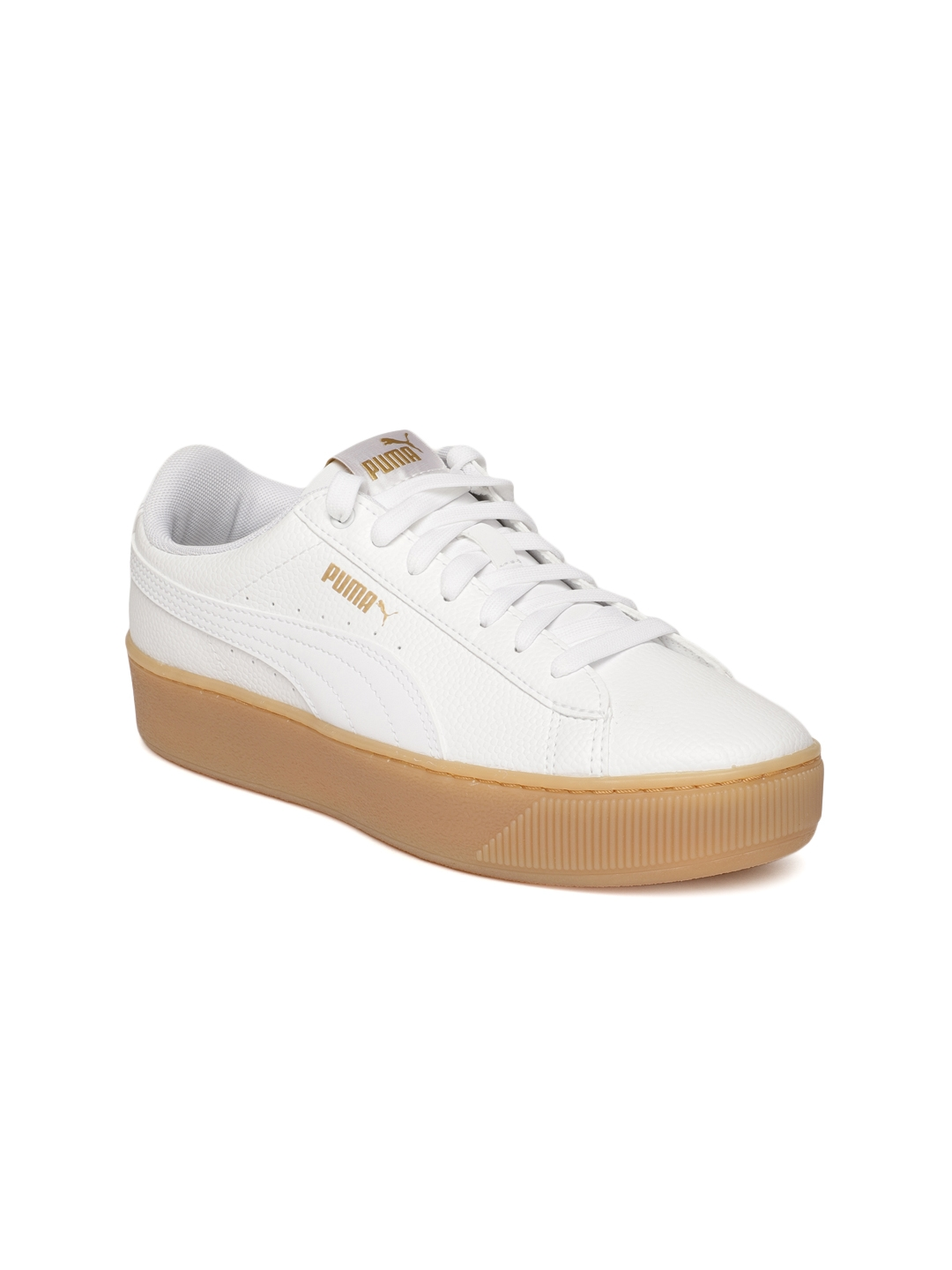 47f2503ecc1511 Buy Puma Women White Vikky Platform VT Sneakers - Casual Shoes for ...