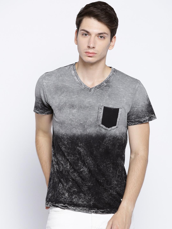 951639d94ddb Buy Octave Men Grey Dyed V Neck T Shirt - Tshirts for Men 6942267 ...