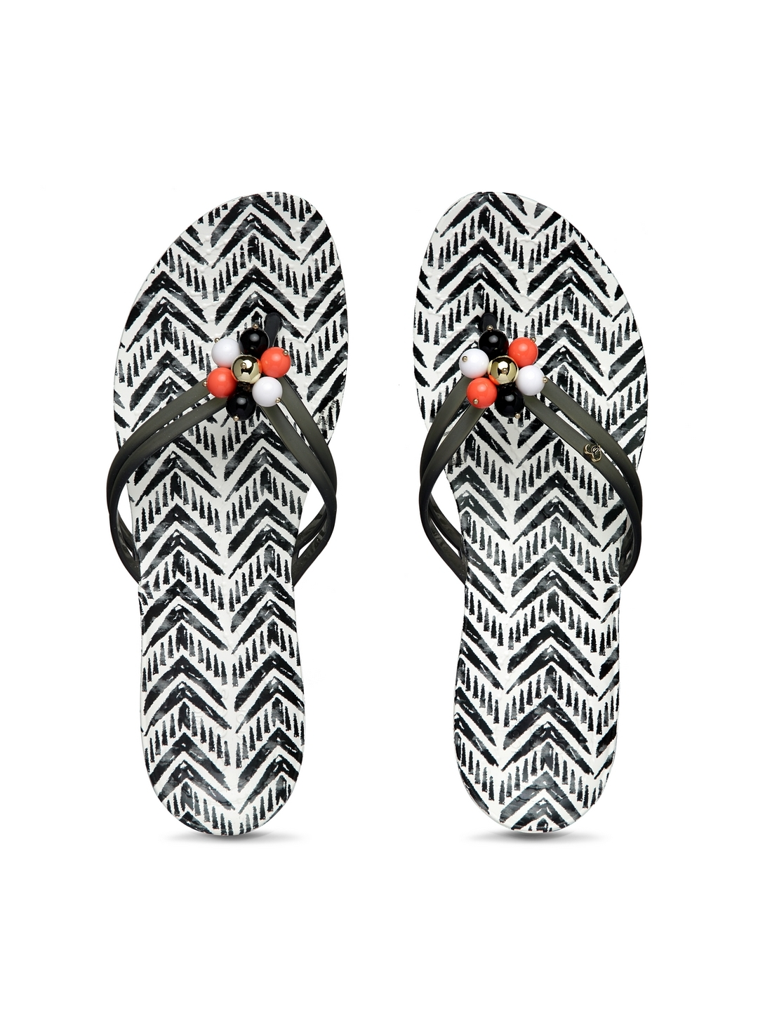 501bf4fb021 Buy Crocs Women Black   White Printed Thong Flip Flops - Flip Flops ...