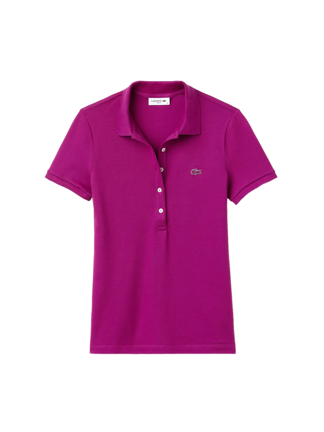 a8282e4dd13 Buy Lacoste Women Purple Solid Polo Collar T Shirt - Tshirts for ...