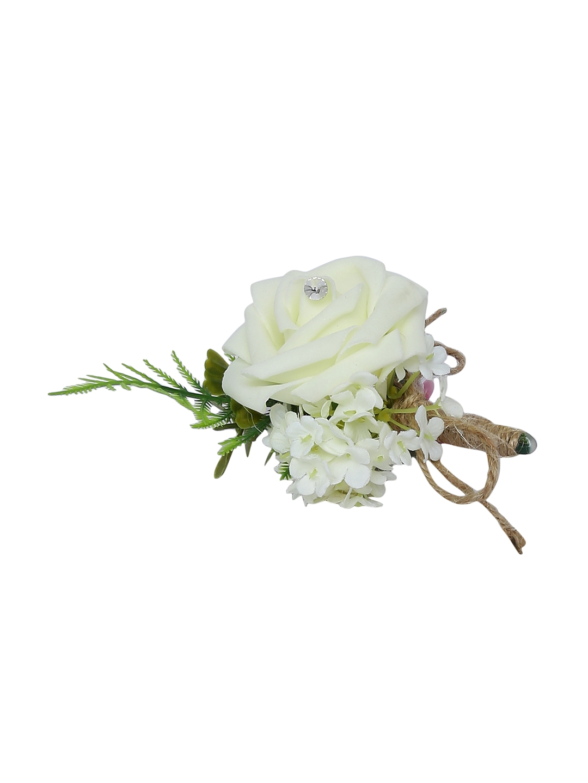 efa52e1b3 Buy Alvaro Castagnino Men White & Pink Lapel Pin - Brooch for Men ...