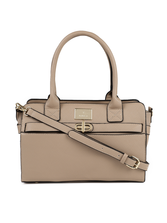 handbag van heusen woman beige handbag myntra 1f4a90892 how