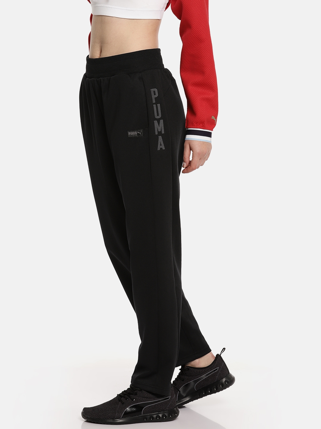 cb0e0fd31b08 Buy Puma Womenen Black Relaxed Fit Fusion Track Pants - Track Pants ...