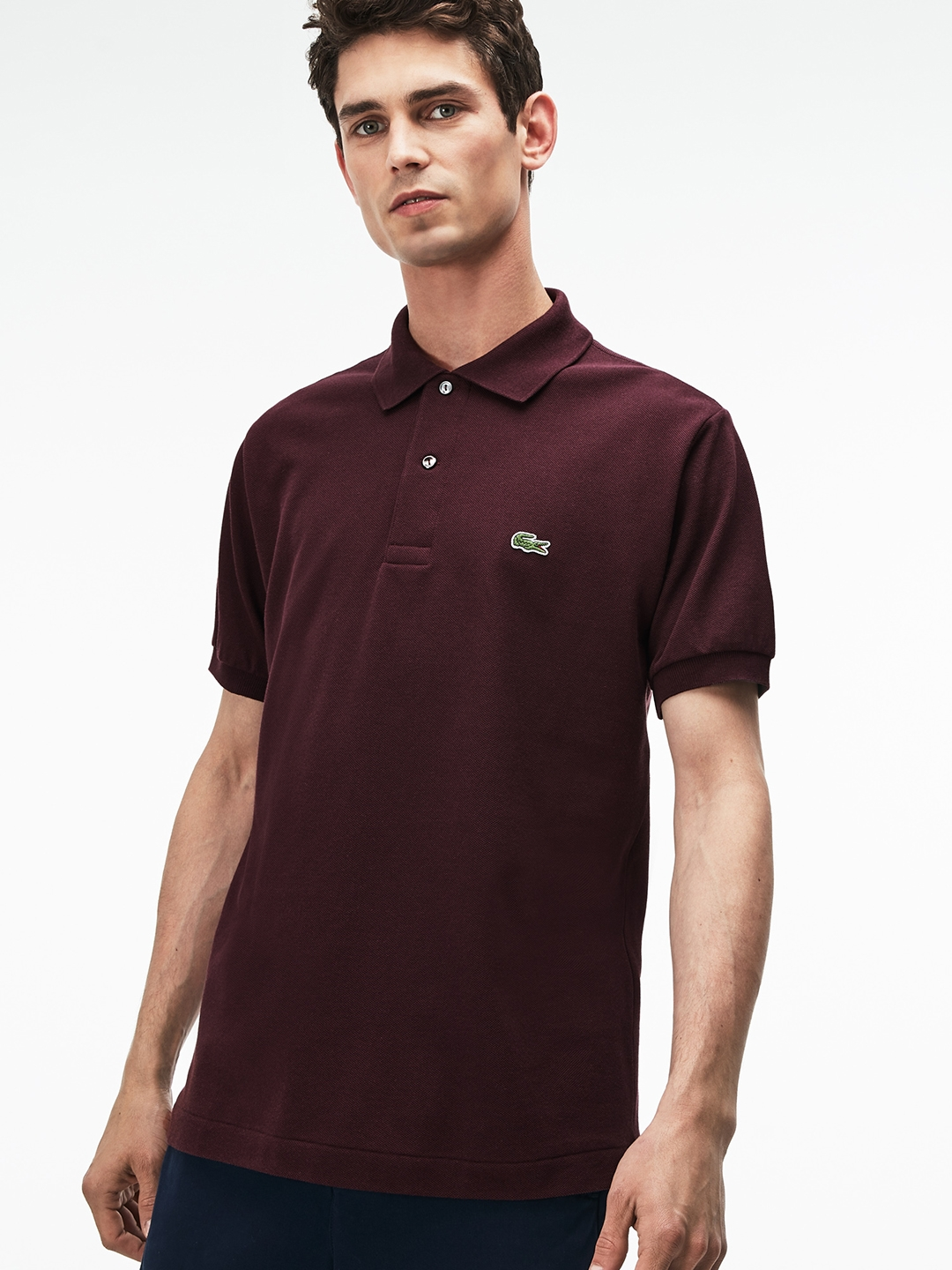 56f54ca71 Buy Lacoste Men Burgundy L.12.12 Polo - Tshirts for Men 6957988