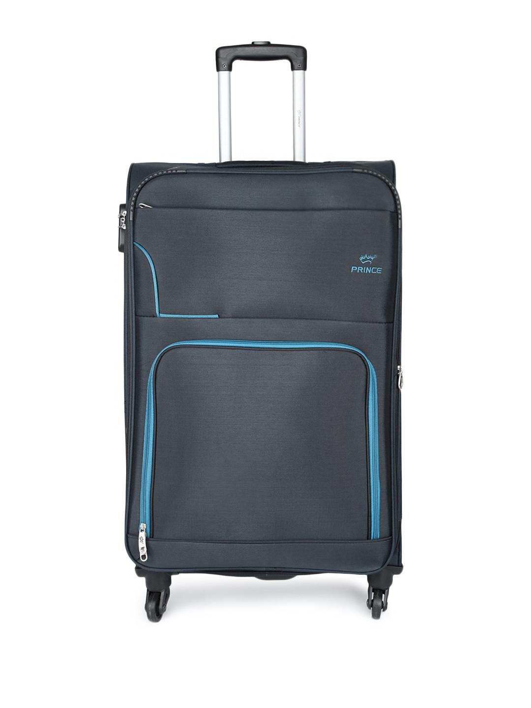 3ea06c9c1160 Buy Princeware Unisex Navy Blue BASEL 4 W Spinner 78 Large Trolley ...