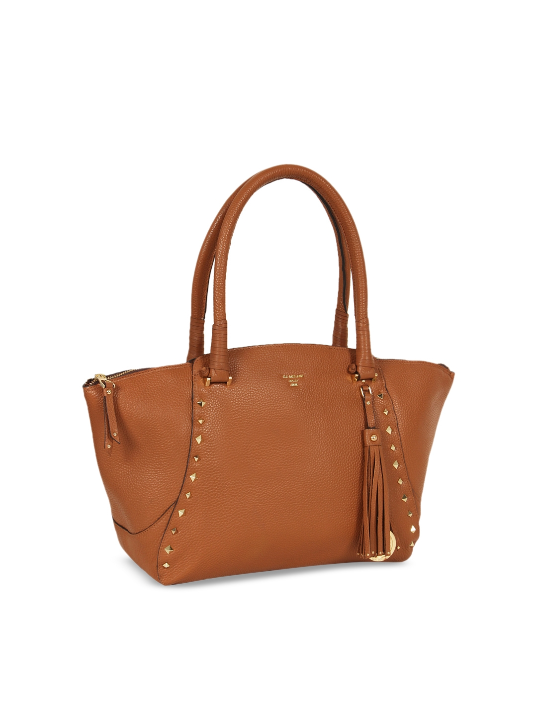 637017183e Buy Da Milano Brown Textured Genuine Leather Shoulder Bag - Handbags ...