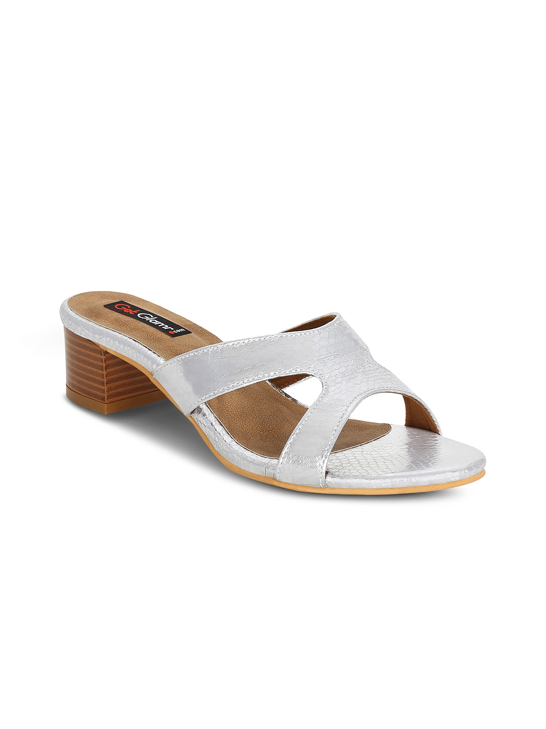 Buy Get Glamr Women Silver Toned Solid Sandals - Heels for Women ... d3e880114f00