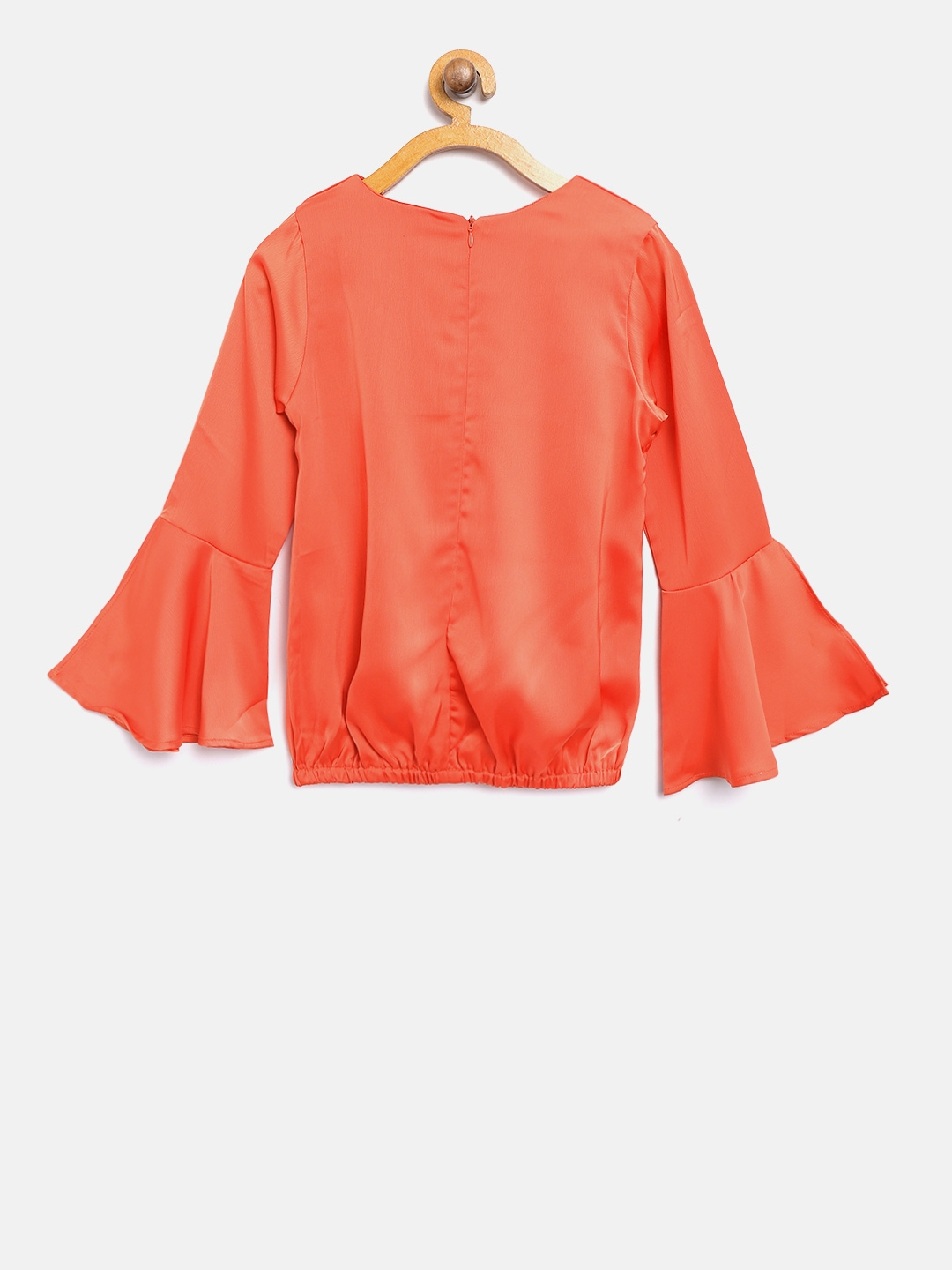 5ce75f8ad6f Buy Tiny Girl Orange Solid Blouson Top - Tops for Girls 6968986