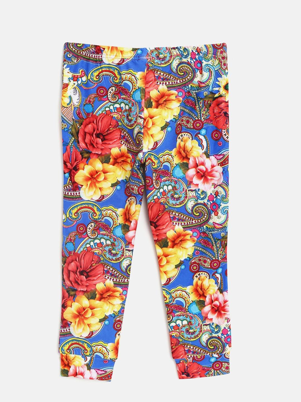 ef2b994f10cc3 Buy Tiny Girl Blue & Red Printed Leggings - Leggings for Girls ...