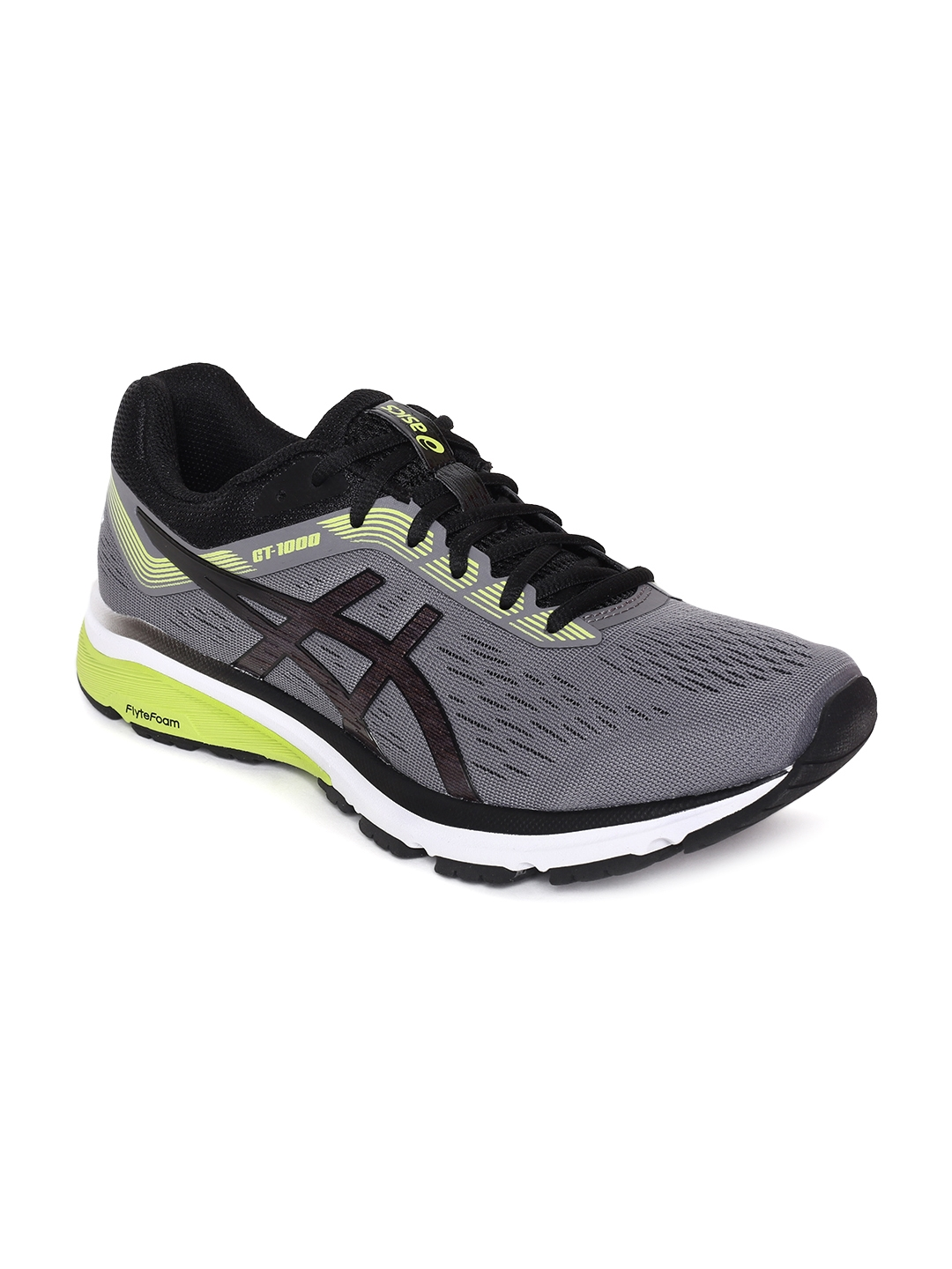 Buy ASICS Men Grey   Black GT 1000 7 Running Shoes - Sports Shoes ... 423f58d75
