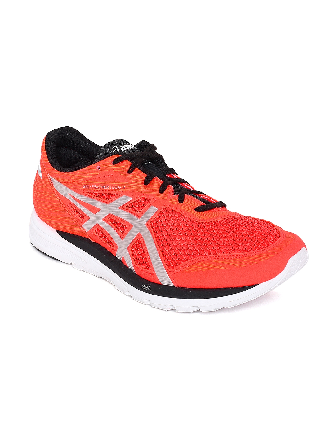 new style ed2f8 e30e1 ASICS Men Coral Orange GEL-FEATHER GLIDE 4 Running Shoes