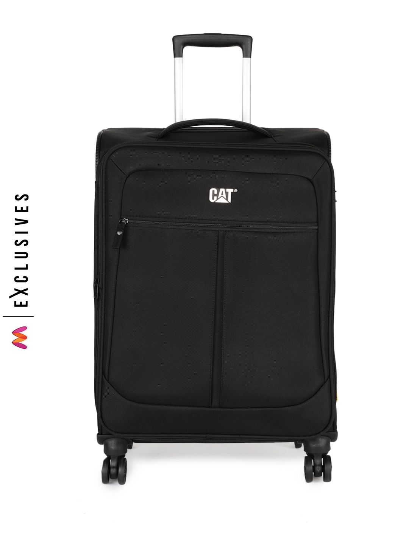 CAT Unisex Black Hammer 24  Softside Checkin Medium Trolley Bag