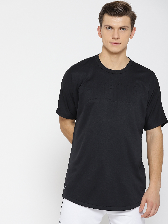 8afaa63c50 Buy ADIDAS Men Black Solid Juventus SSP Football T Shirt - Tshirts ...