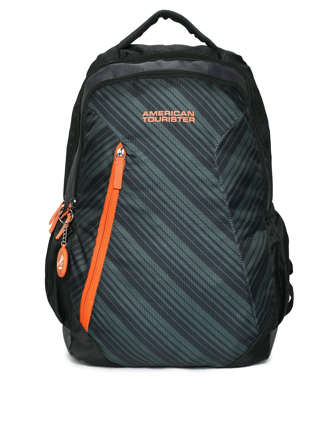 0e7a23b725c Buy AMERICAN TOURISTER Unisex Black Printed RAVE SCHOOL Backpack ...