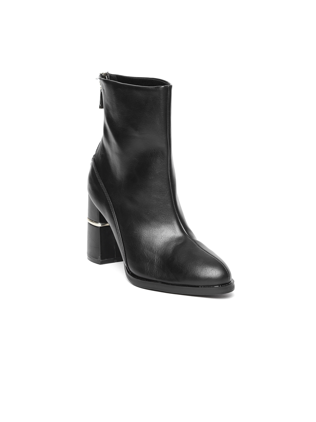 01e595a296cd Buy FOREVER 21 Women Black Solid High Top Heeled Boots - Heels for ...