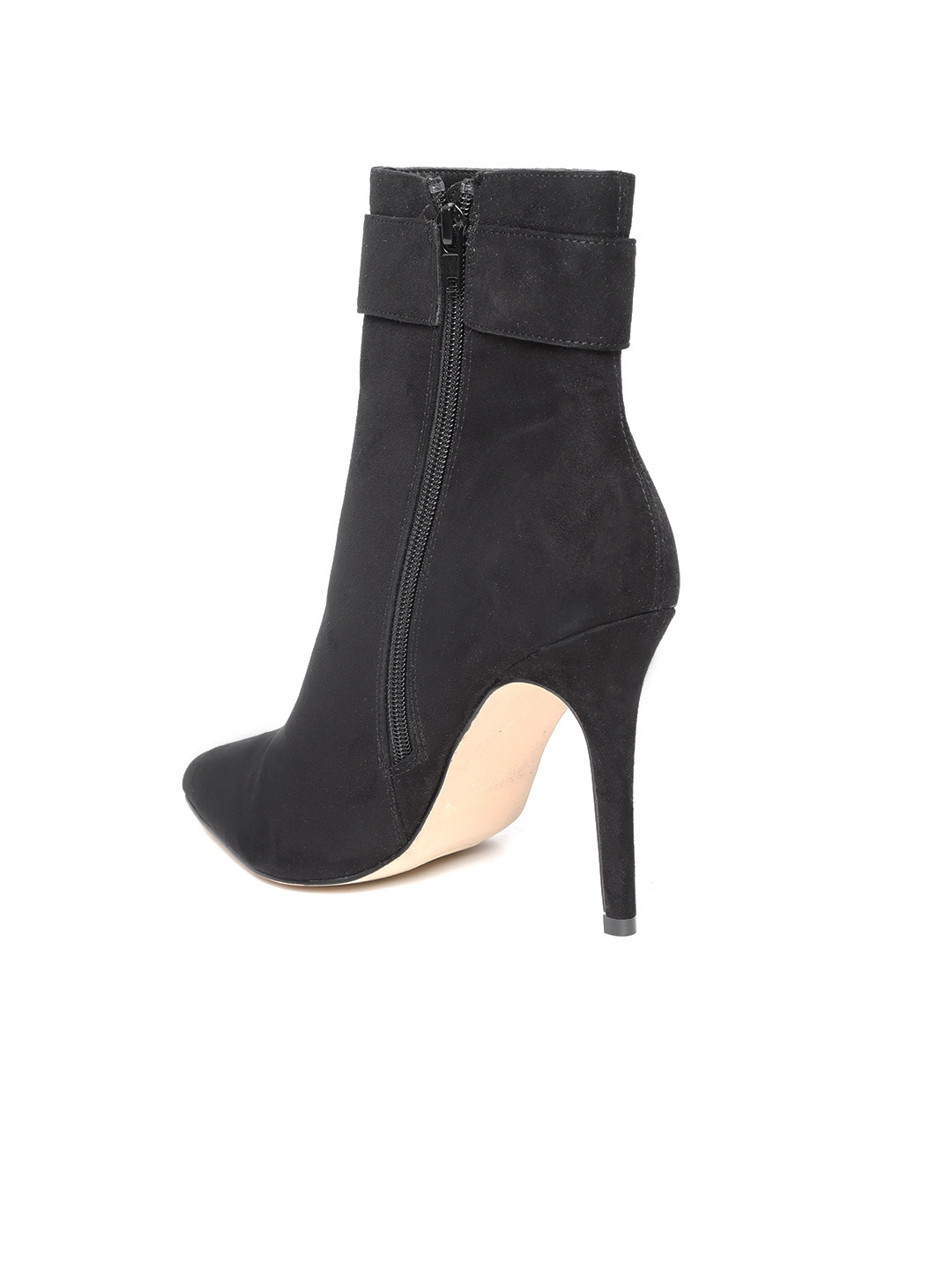 d08f8b58a1f9 Buy FOREVER 21 Women Black Solid Mid Top Heeled Boots - Heels for ...