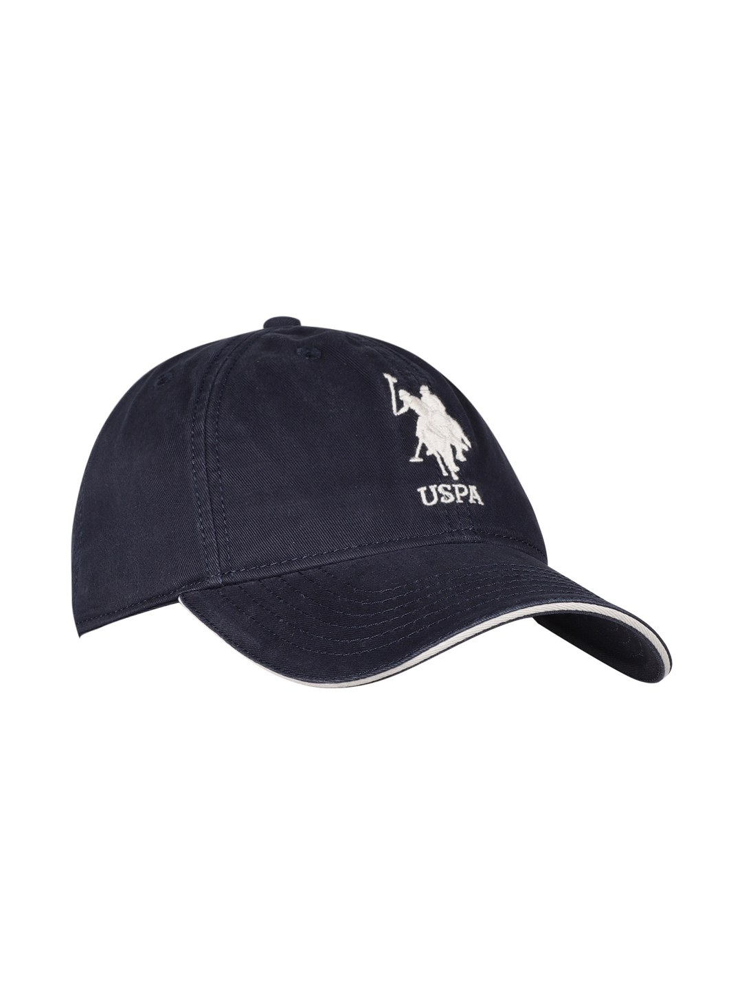 Buy U.S. Polo Assn. Men Navy Blue Solid Baseball Cap - Caps for Men ... 8792db87140