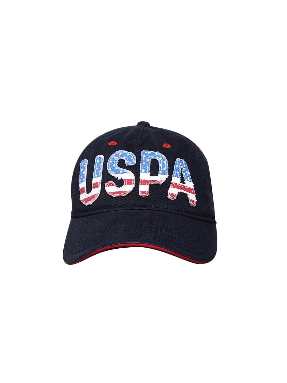 8e47cefbdff Buy U.S. Polo Assn. Men Navy Blue Solid Baseball Cap - Caps for Men ...