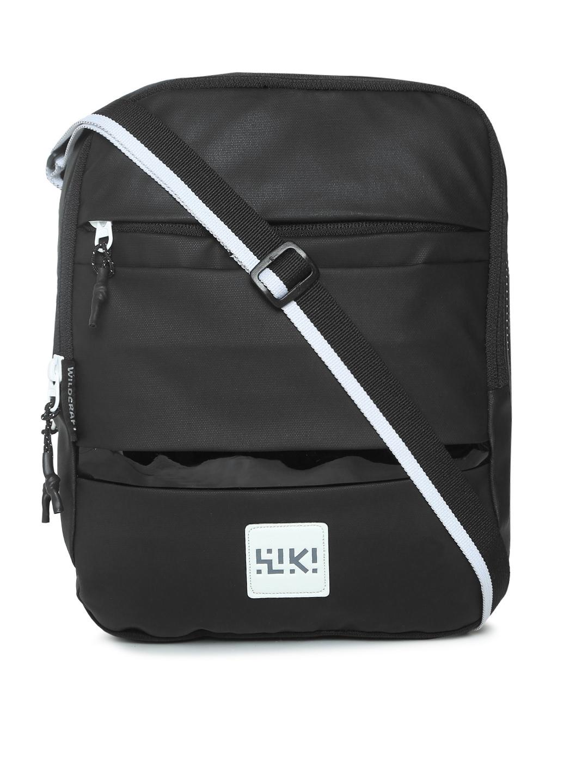aa1f422c9f6c Buy Wildcraft Unisex Black Solid Crossbee Messenger Bag - Messenger ...