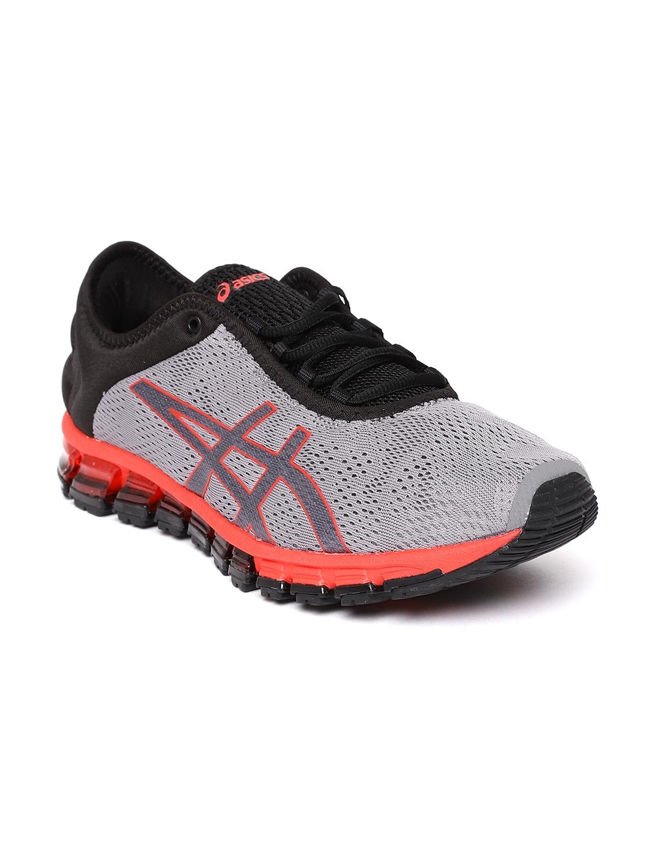 6bb6a0001194 Buy ASICS Men Grey   Black Gel Quantum 180 3 Running Shoes - Sports ...
