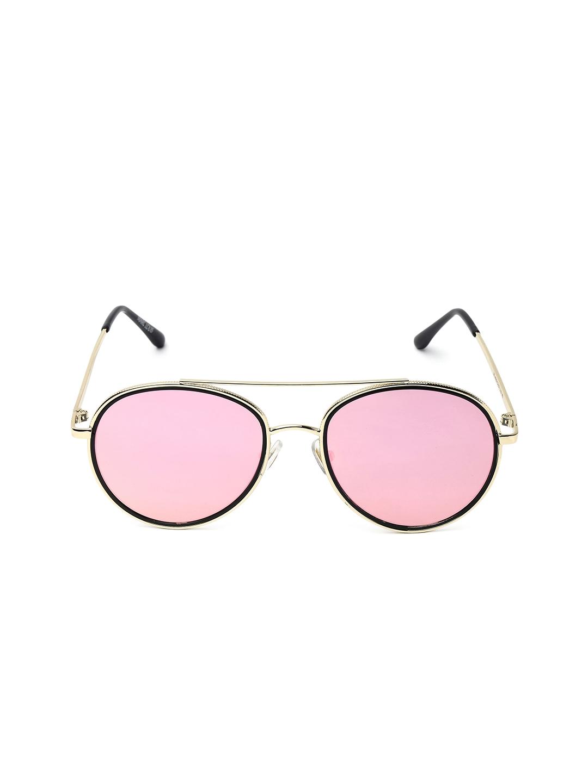 ade7cc7e5daf Buy MARC LOUIS Women Pink   Black Aviator Sunglasses - Sunglasses ...