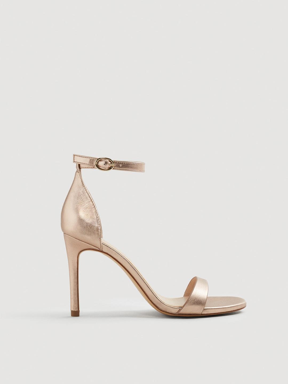 cd2a41406e5 Buy MANGO Women Rose Gold Toned Solid Stilettos - Heels for Women ...