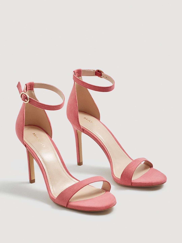 082d038b2188 Buy MANGO Women Pink Solid Heels - Heels for Women 6995504