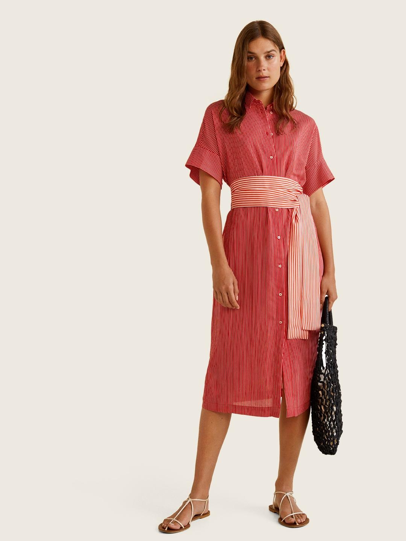 f4865412eea Buy MANGO Women Red   White Striped Shirt Dress - Dresses for Women ...