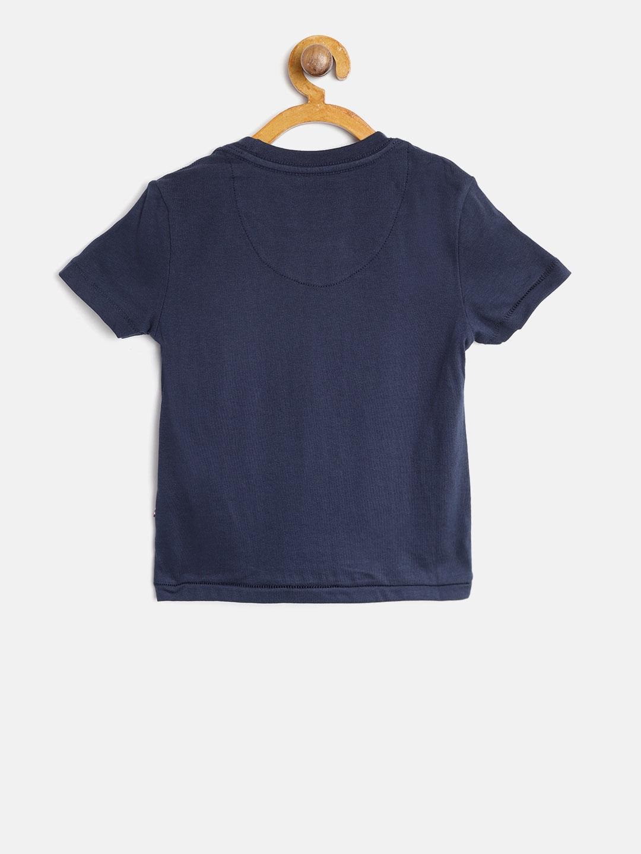 7d43c59bd Buy U.S. Polo Assn. Kids Boys Navy Blue Printed Round Neck T Shirt ...