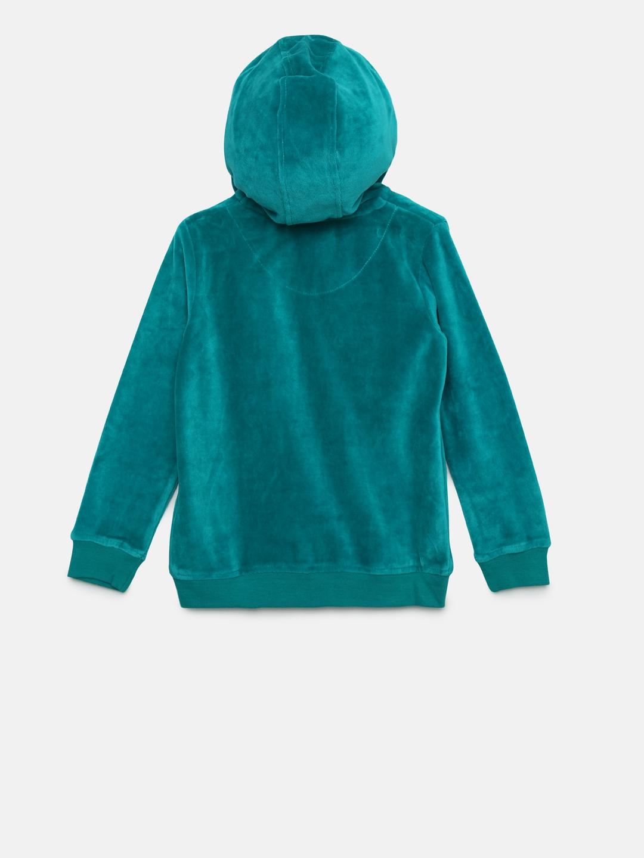 Buy U.S. Polo Assn. Kids Girls Teal Green Solid Hooded Sweatshirt ... 08dec32fa67c