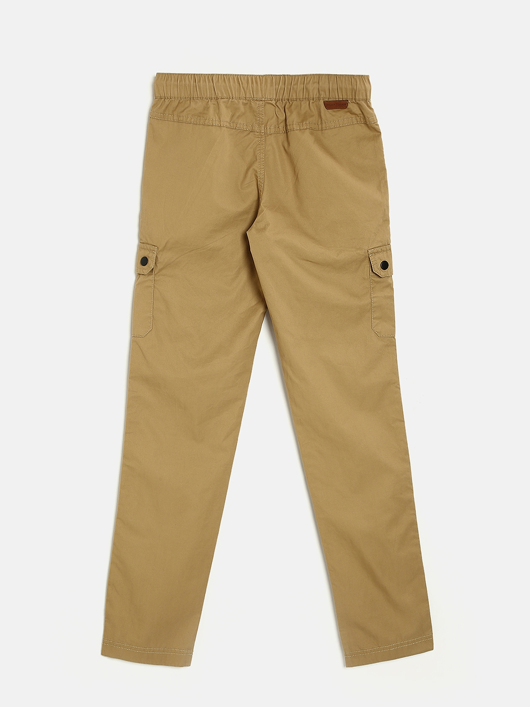 2718751c29 Buy Indian Terrain Boys Brown Regular Fit Solid Cargo Trousers ...