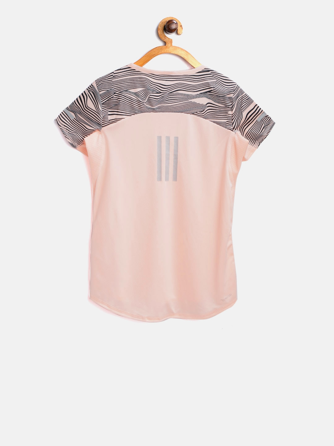 e97b4375 Buy ADIDAS Girls Peach Coloured YG Run T Shirt - Tshirts for Girls ...