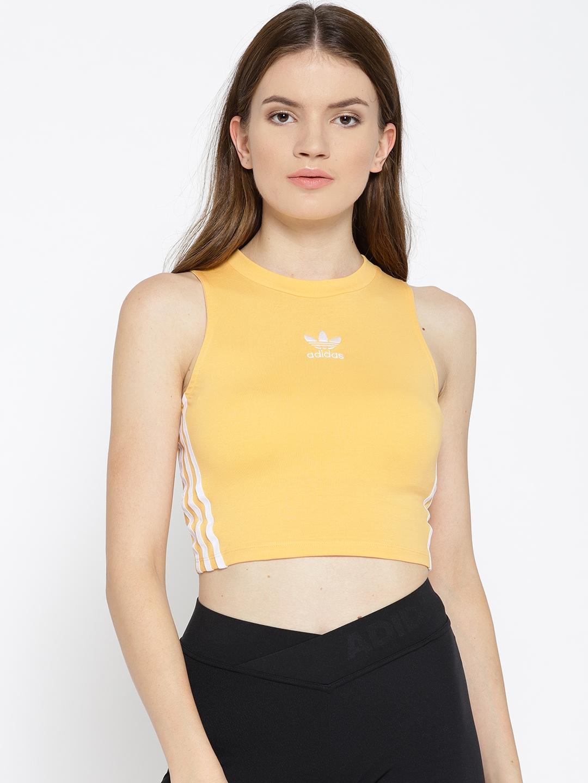 Criticar síndrome Fruta vegetales  Buy ADIDAS Originals Women Yellow Crop Tank Top - Tops for Women 7010626 |  Myntra