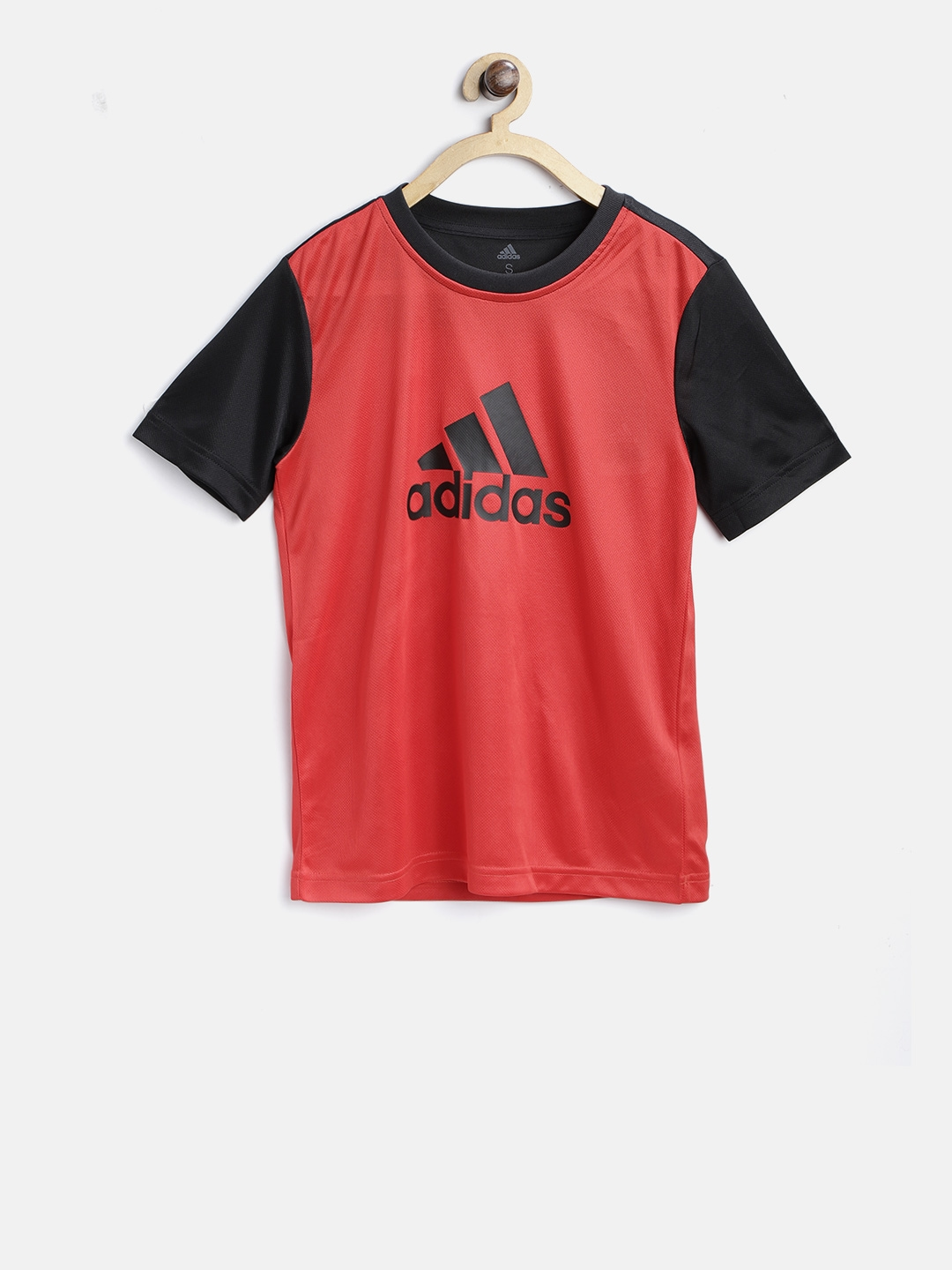 Buy Adidas Boys Red   Black Youth Training Gear Up Round Neck Jersey ... a12f5ebd71d8f