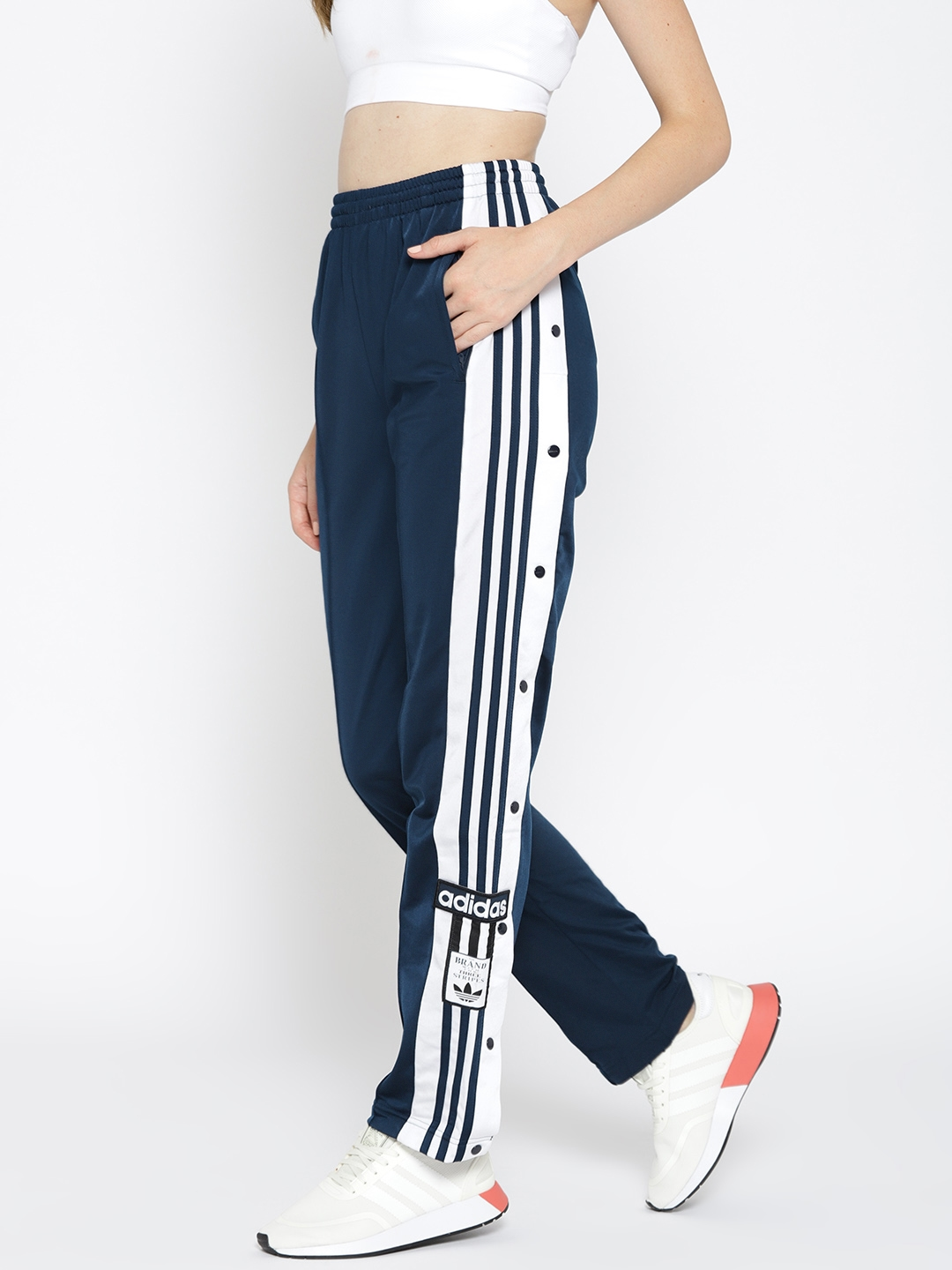 f43bfa57760e8 Buy ADIDAS Originals Navy Blue Solid ADIBREAK Track Pants - Track ...