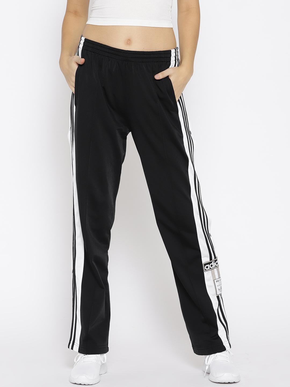 75e7d8fe1 Buy ADIDAS Originals Women Black Solid Adibreak Track Pants - Track ...