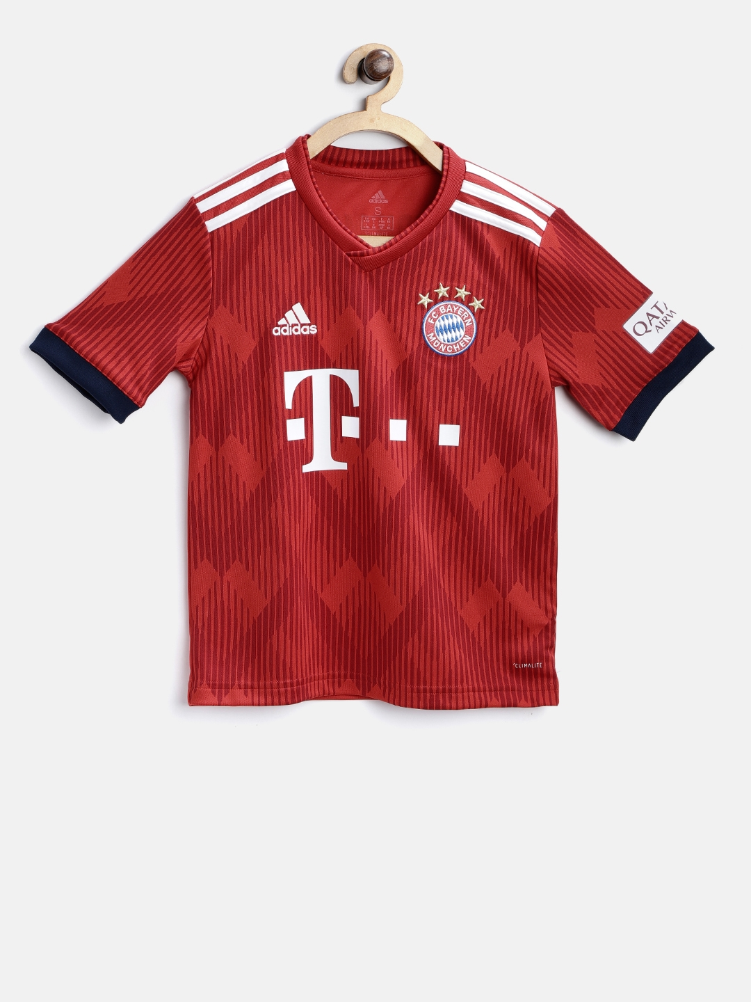 8948c2d50 Buy ADIDAS Red Boys Printed FC Bayern Home Y Football Jersey ...