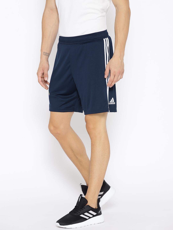 73c10fe9d Buy ADIDAS Men Navy Blue Solid FC Bayern Munich Home Football Shorts ...
