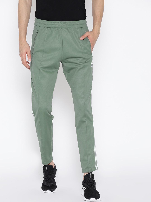 be1d2904a4 Buy ADIDAS Originals Olive Green BECKENBAUER Slim Fit Track Pants ...