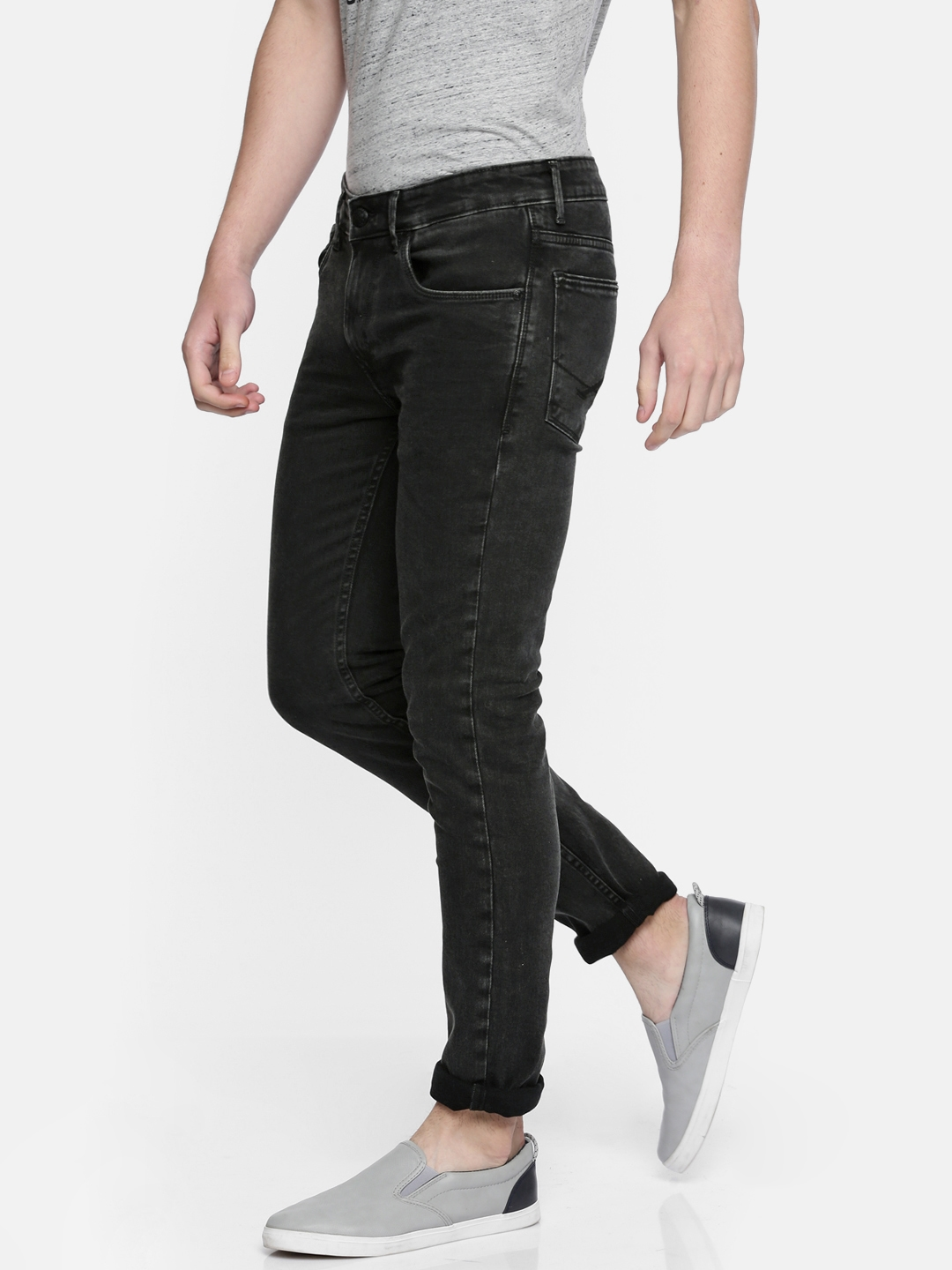 a9070ad95 U.S. Polo Assn. Denim Co. Men Black Skinny Fit Mid-Rise Clean Look  Stretchable Jeans