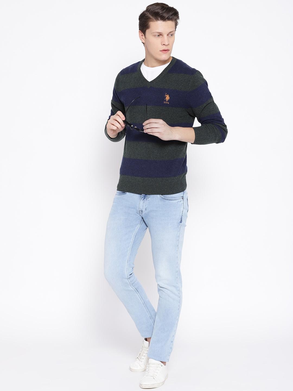 U.S. Polo Assn. Men Striped Sweater