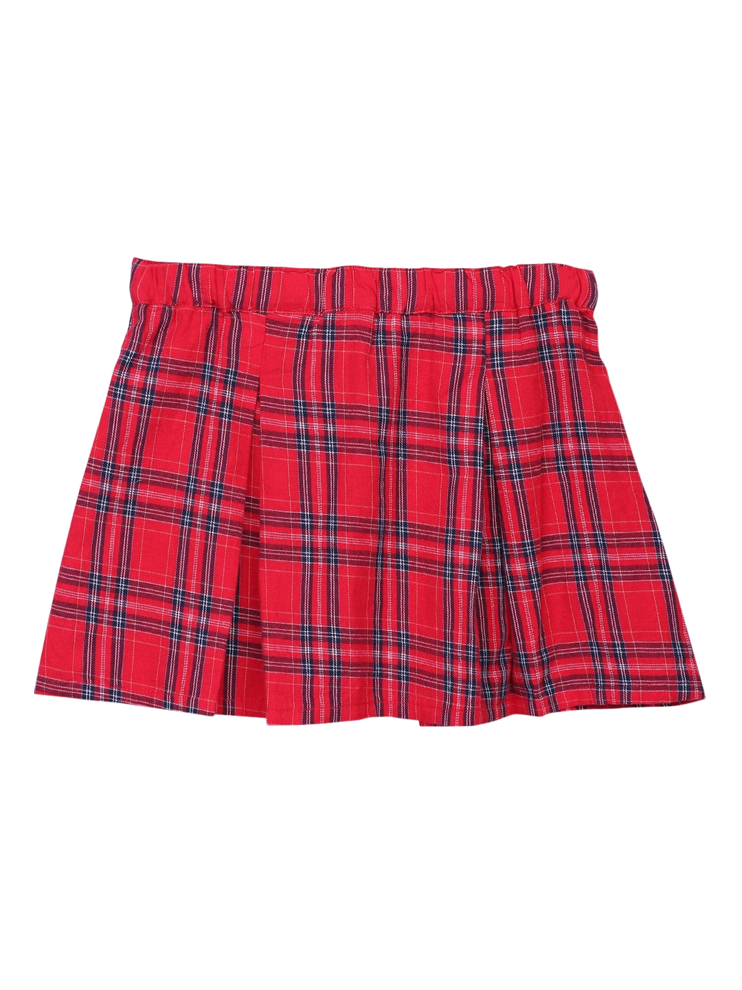 88db679828 Buy Beebay Girls Red & Blue Checked Skirt - Skirts for Girls 7028816 ...