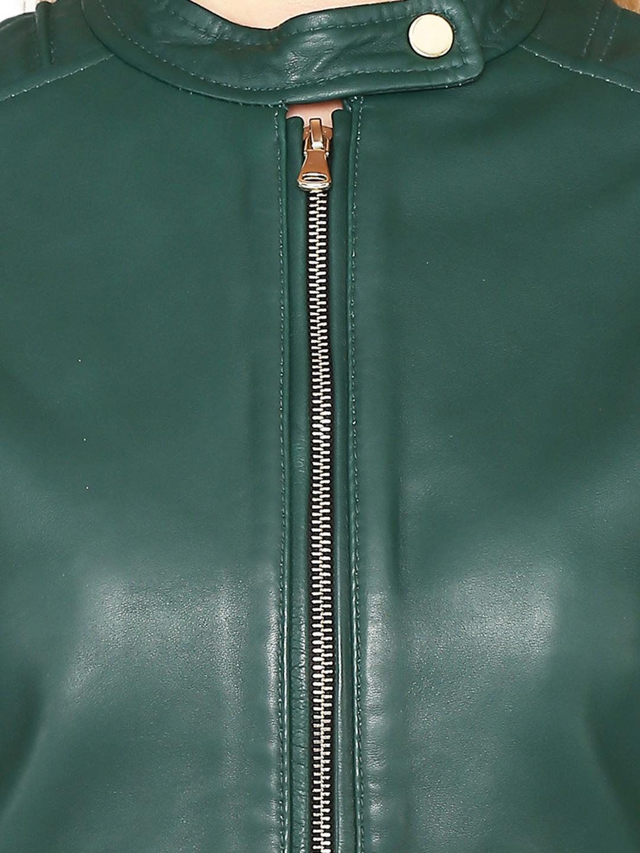 44c7e42df Buy Justanned Women Green Leather Jacket - Jackets for Women 7029264 ...