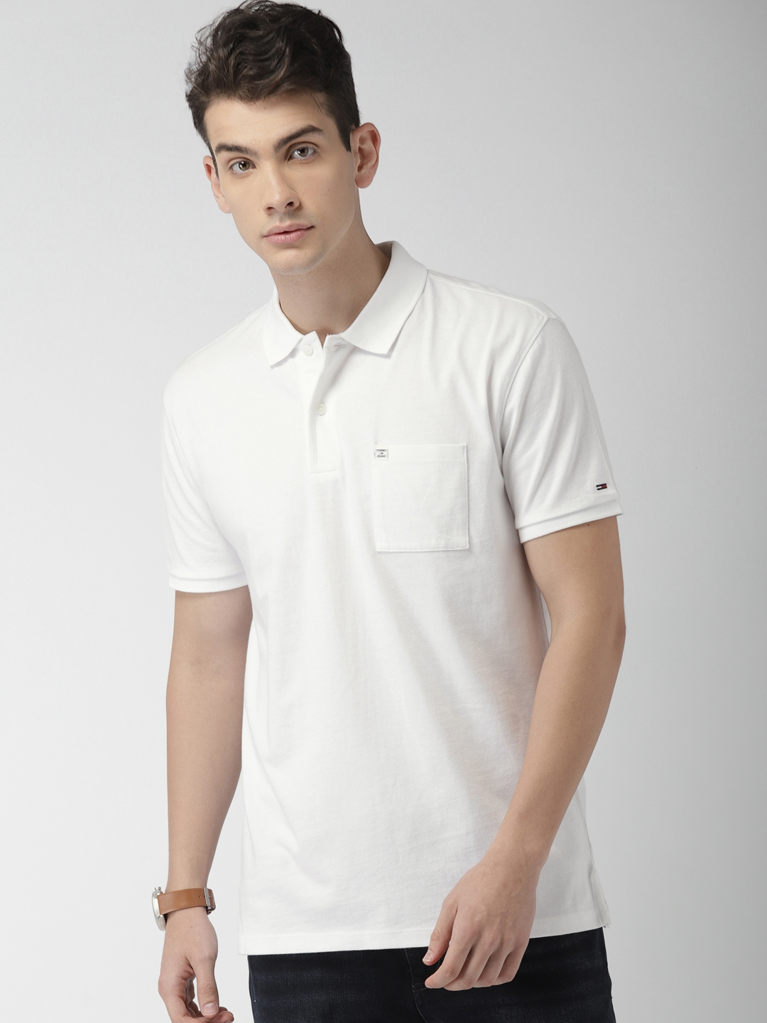 5119bbdeeac5 Buy Tommy Hilfiger Men White Solid Polo T Shirt - Tshirts for Men ...