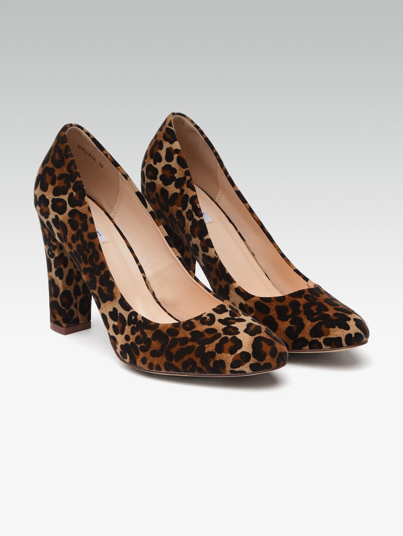 08dd0358ae0f Buy Elle Women Brown & Black Leopard Print Pumps - Heels for Women ...