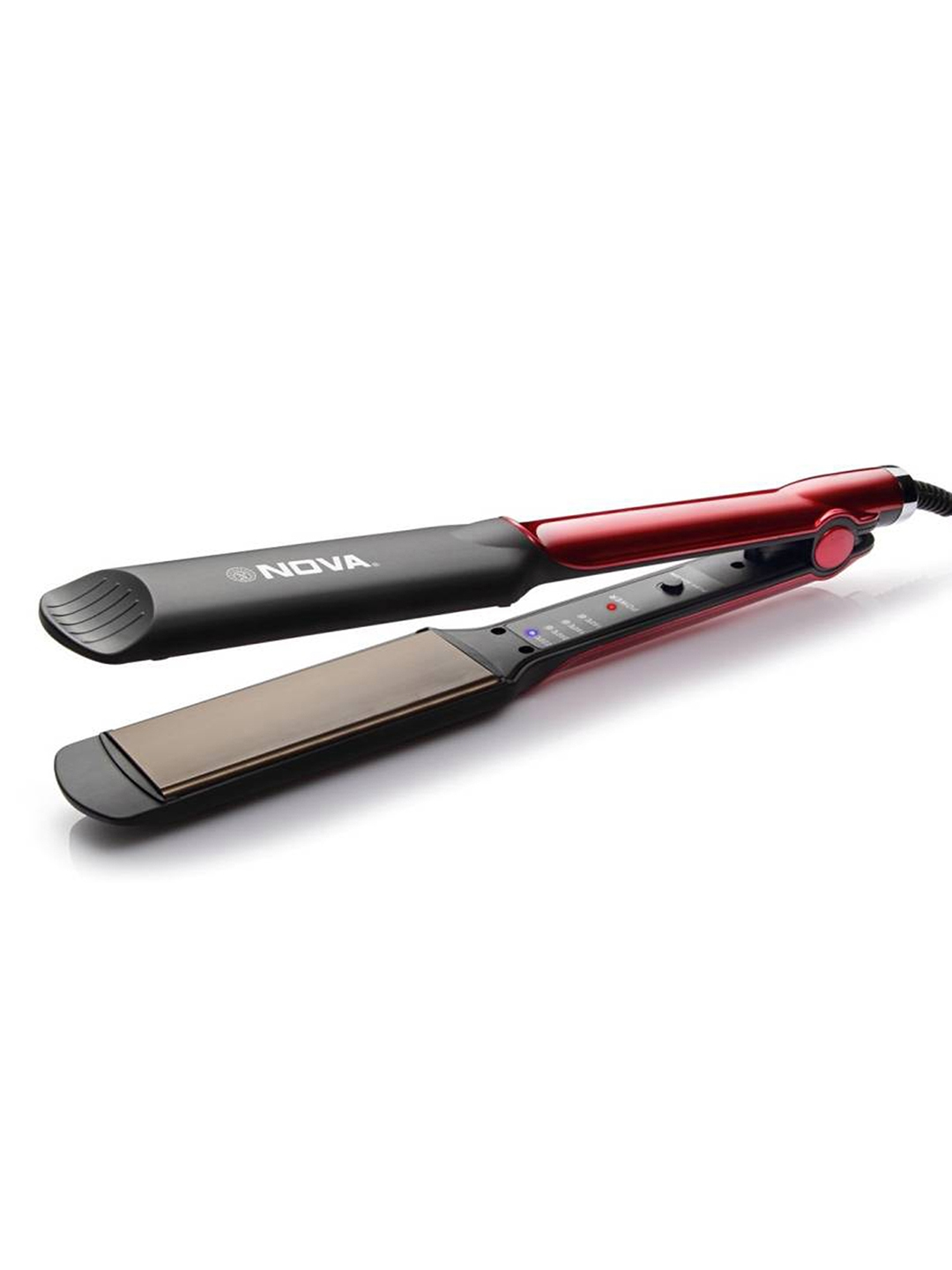 Nova Red Temperature Control Professional NHS 870 Hair Straightener NOVA Hair Appliance