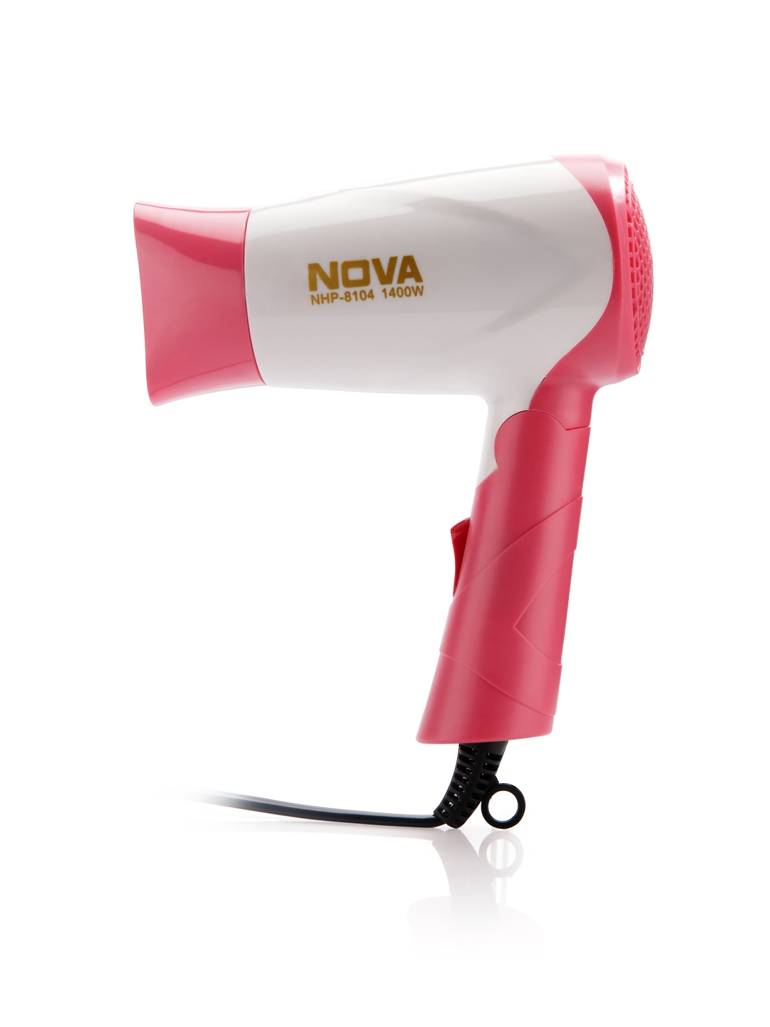 NOVA Women NHP 8104 Silky Shine Hot   Cold Foldable Hair Dryer White   Pink