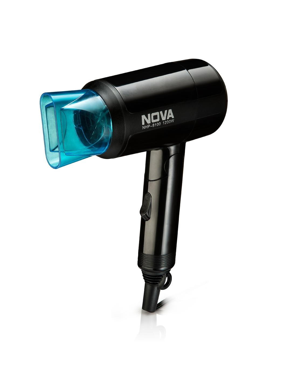 NOVA Women NHP 8105 Silky Shine Hot   Cold Foldable Hair Dryer Black   Blue