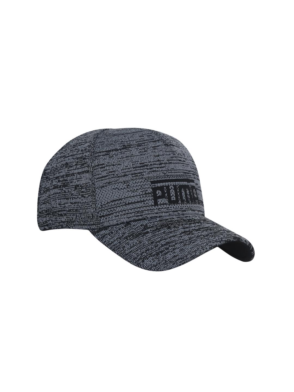 36ed54d6bc7b2 Buy Puma Unisex Grey   Black PACE BB Self Design Baseball Cap - Caps ...